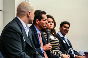 An alumni panel at Career Day in Philadelphia.