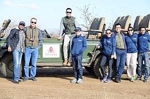 Wharton EMBA students on safari in South Africa.