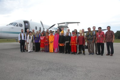 David Trecker and EMBA classmates in Indonesia.
