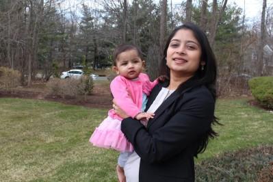 Garima Mathur and daughter