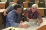 Mike Gipe and EMBA students in a review session