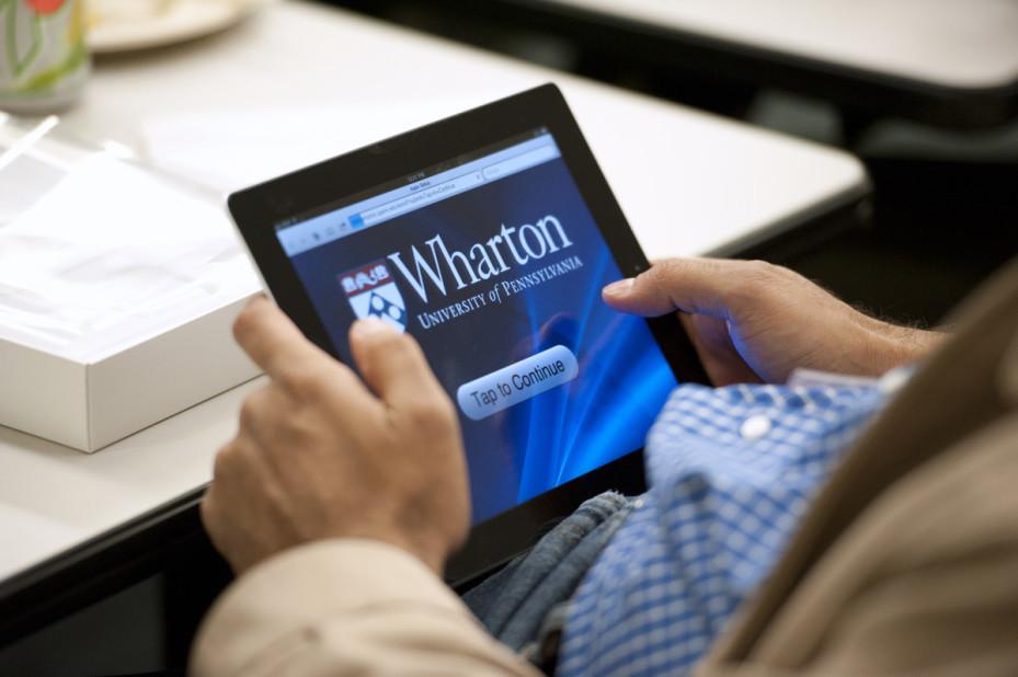 Distributing iPads_ Wharton MBA for Executives - San Francisco